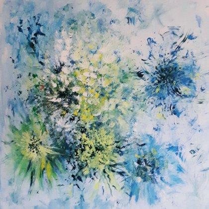 RHAPSODY IN BLUE - Acryl  on canvas - 100x100