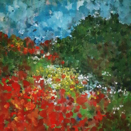 POPPIES FOREVER - Acryl on canvas- 80x80