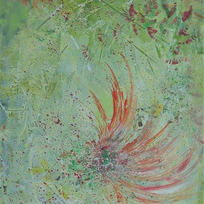 PHOENIX - Acryl on canvas - 70x80
