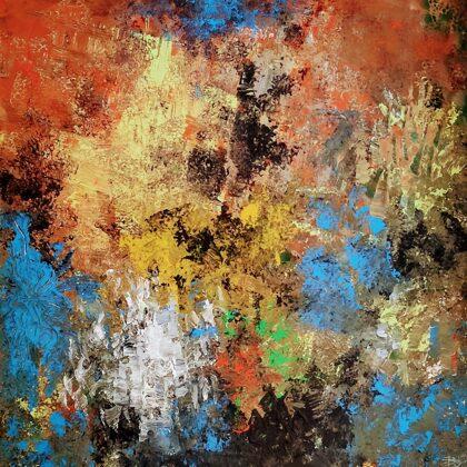 SOME BLUE SPOTS - Acryl on canvas - 90x90