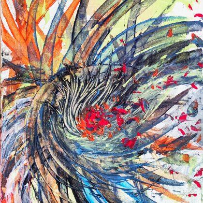 FLOWN OUT - Acryl on canvas - 30x40