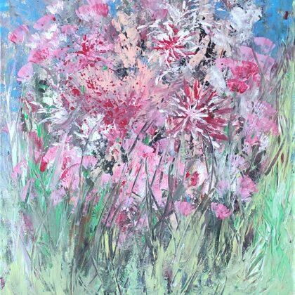 HIDDEN IN THE GRASS - Acryl on canvas - 60x70