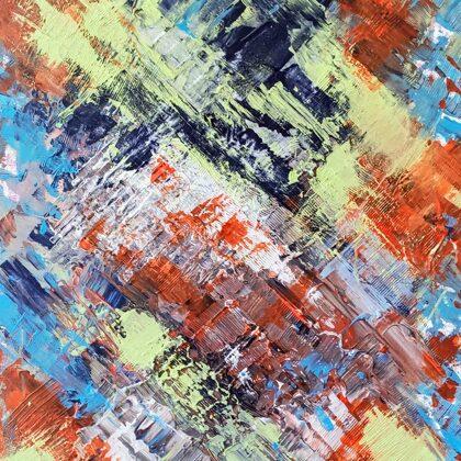 DIAGONAL IDEAS - Acryl on canvas - 70x80