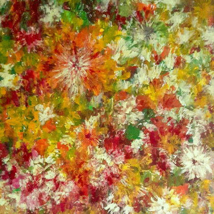 AUTUMN COLOURS - Acrylic colours on canvas - 80x80