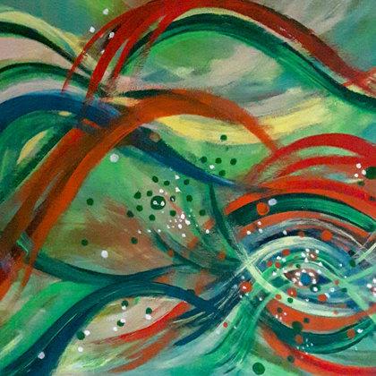 OCTOPUS'S GARDEN- Acryl on canvas - 100x80