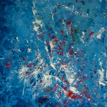 SINKING - Acrylic colours on canvas - 50x60