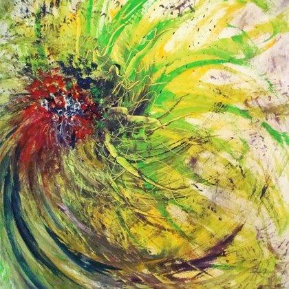 LIKE A PEACOCK- Acryl on canvas - 80x100