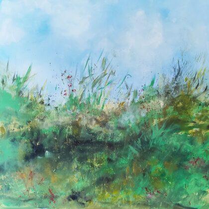 THE SKY ABOVE - Acryl colours on canvas - 100x100